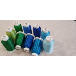 Kit assortimento Metallico Blu-Verde