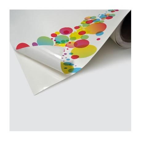 PVC Vinile adesivo 100 micron Bianco Lucido