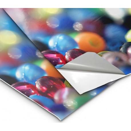 PVC Vinile adesivo 100 micron Bianco Lucido Retro Grigio coprente