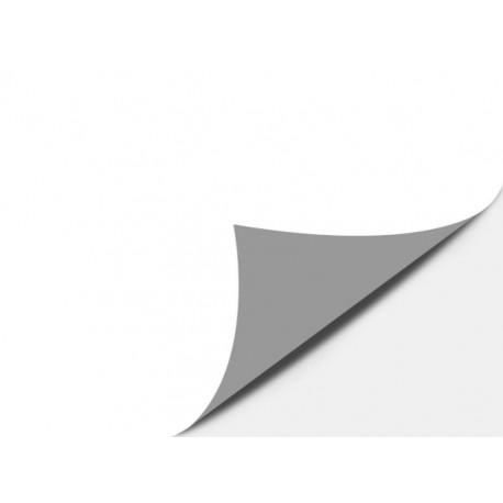PVC Vinile adesivo 100 micron Bianco Opaco retro Grigio coprente