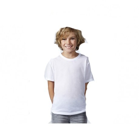 T-Shirt Bambino Poliestere 100% effetto cotone