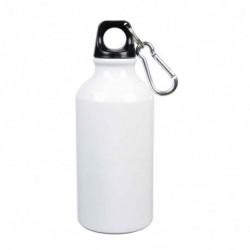 Borraccia con Moshettone Sublimatica in Alluminio Bianco 400 ml.