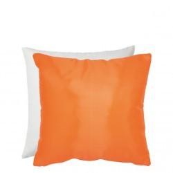 Federa Bicolore Bianco/Arancio 40x40 cm. Retro Raso