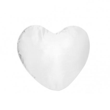 Federa Bicolore Cuore Bianco/Bianco 40x40 cm.