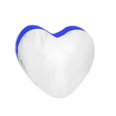 Federa Poly Bicolore Cuore Bianco/Blu 40x40 cm.