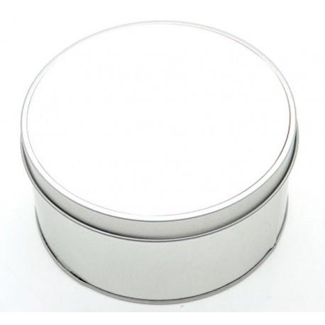 Scatola in Alluminio Forma Tonda Ø 12 cm.