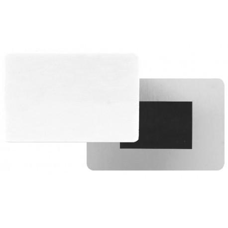 Magnete ALLUMINIO 5x7,5 cm. sp.0,5 mm.