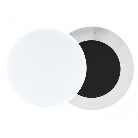 Magnete Alluminio Tondo Bianco Lucido Ø 11 cm. sp. 0,5 mm