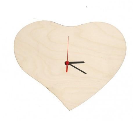 Orologio in Legno Cuore 24x20 cm. da Parete