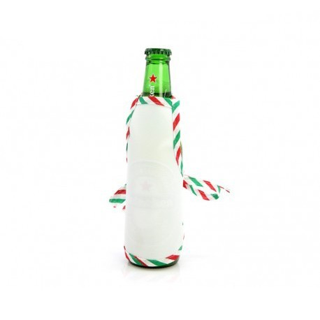 Mini Grembiule Bianco per Bottiglie 16x13 cm