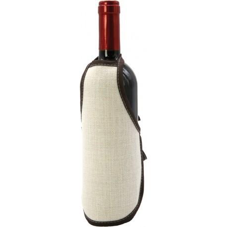 Mini Grembiule Juta per Bottiglie 22x15 cm.