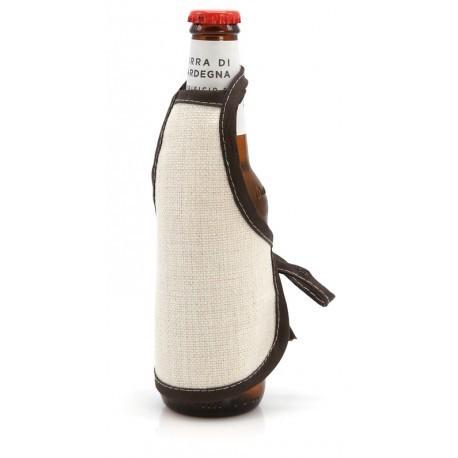 Mini Grembiule Juta per Bottiglie 16x13 cm.