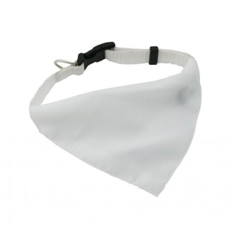 Collare Bianco Per Animali Con Bandana Bianca in Poliestere