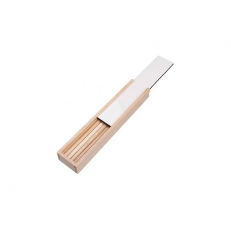 Porta Matite In Legno Con Chiusura Bianca Sublimabile 20,5x4,2x2,4 cm