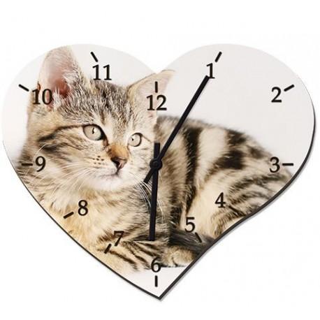 Orologio Cuore in Vetro Temperato 20x24,5