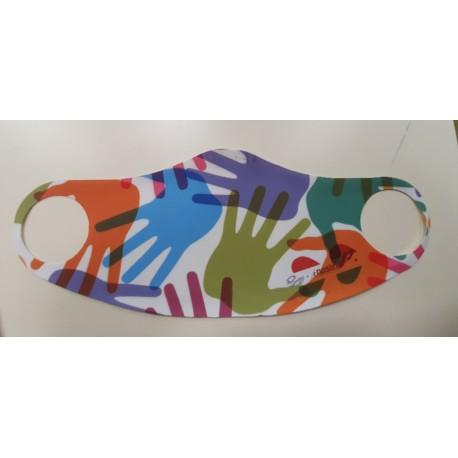 Mascherina Full Print Elastica Taglia S Bambino (2-8 Anni)