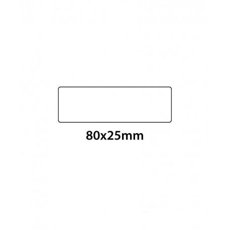 Etichetta in PVC Trasparente 80x25