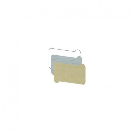 Etichetta Pergamena - 32x20mm