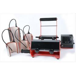 Termopressa con riscaldatore larghezza doppia con accessori