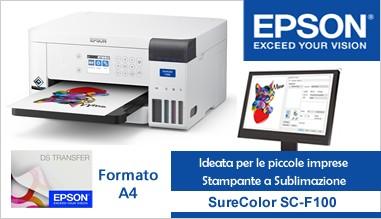 Epson SureColor SC-F100 è la stampante a sublimazione per start-up e aziende.